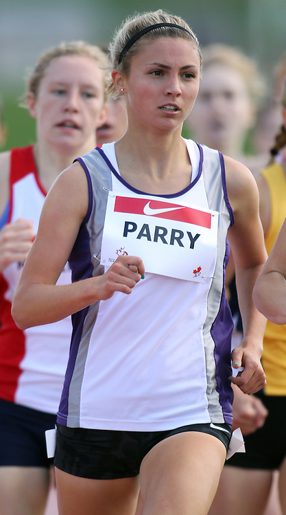 (Moncton,  New Brunswick) --- .Jessica Parry1500m003_0710CA.jpg at the 2010 Canadian Junior Track and Field championships in Moncton, New Brunswick July 04 ,  2010)... Photograph copyright Claus Andersen / Mundo Sport Images, 2010.