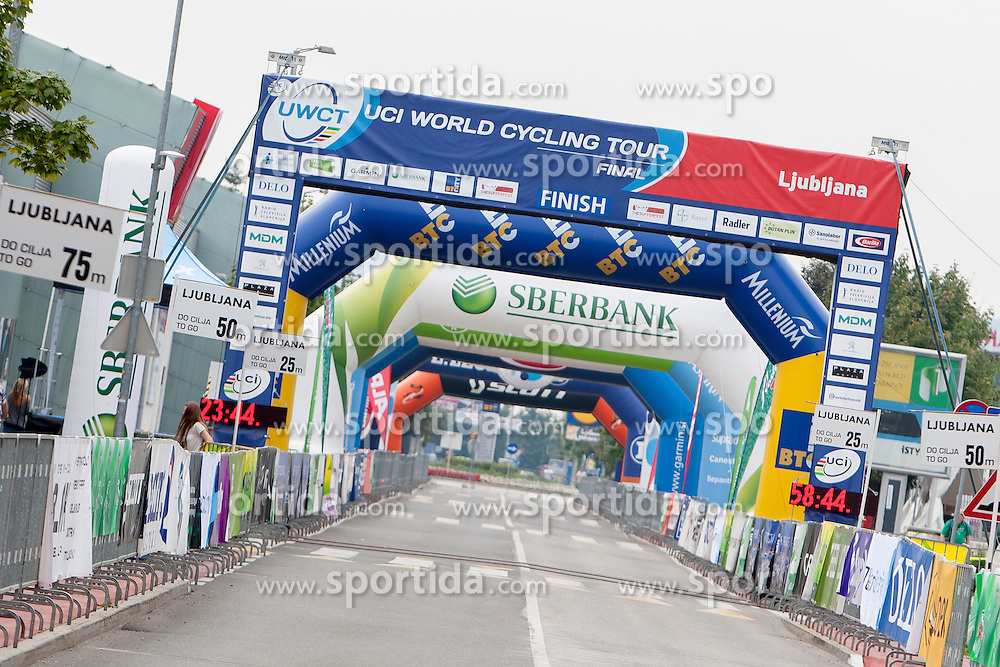 Start/finish area during UCI amateur Road World Championship 2014 on August 31, 2014 in BTC City, Ljubljana, Slovenia. Photo by Urban Urbanc / Sportida.com