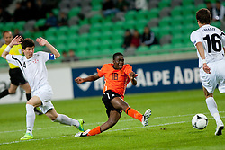 Queensy Menig of Netherlands during the UEFA European Under-17 Championship Group A semifinal match between Netherlands and Georgia on May 13, 2012 in SRC Stozice, Ljubljana, Slovenia. (Photo by Matic Klansek Velej / Sportida.com)