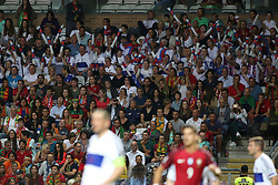 August 31, 2017 - Porto, Portugal - Portugal's and Faroe Islands' supporters during the 2018 FIFA World Cup qualifying football match between Portugal and Faroe Islands at the Bessa XXI stadium in Porto, Portugal on August 31, 2017. (Credit Image: © Pedro Fiuza/NurPhoto via ZUMA Press)
