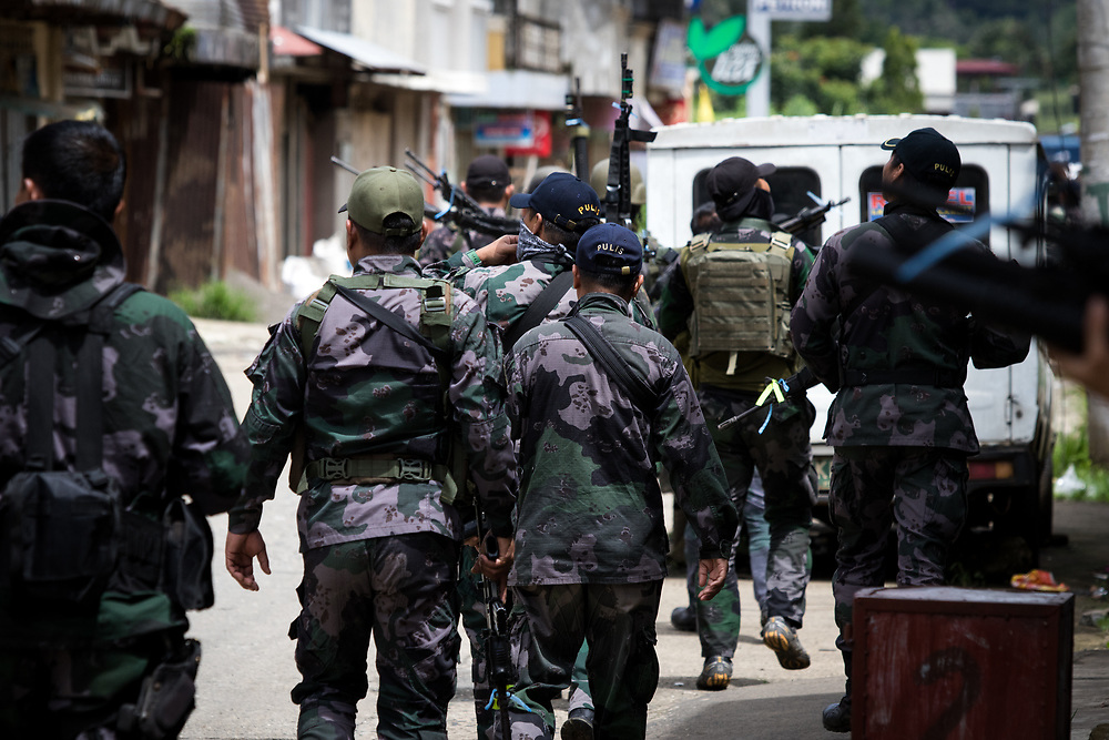 MARAWI, PHILIPPINES - JUNE 6: Government troops is seen inside of a NO GO ZONE to search for explosives and firearms left be Islamic rebels in Marawi City in Southern Philippines, June 6, 2017. (Photo: Richard Atrero de Guzman/NUR Photo)