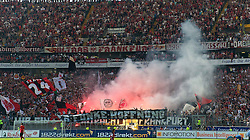 07.05.2011, Commerzbank-Arena, Frankfurt, GER, 1. FBL, Eintracht Frankfurt vs 1.FC Koeln, im Bild Frankfurter zuenden Pyro EXPA Pictures © 2011, PhotoCredit: EXPA/ nph/  Roth       ****** out of GER / SWE / CRO  / BEL ******