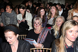 Jenni Murray takes her seat at the Julien Macdonald show at London Fashion Week,  Saturday, 15th February 2014. Picture by Stephen Lock / i-Images.