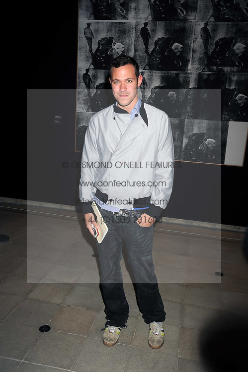 """Singer WILL YOUNG at an exhibition of work by Andy Warhol entitled """"Other Voices, Other Rooms"""" at The Hayward Gallery, Southbank Centre, London SE1 on 6th October 2008."""