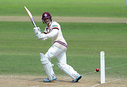 Somerset's Tom Abell flicks the ball- Photo mandatory by-line: Harry Trump/JMP - Mobile: 07966 386802 - 16/06/15 - SPORT - CRICKET - LVCC County Championship - Division One - Day Three - Somerset v Nottinghamshire - The County Ground, Taunton, England.
