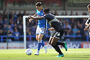 Ian Henderson looks for a pass during the EFL Sky Bet League 1 match between Rochdale and Bury at Spotland, Rochdale, England on 26 August 2017. Photo by Daniel Youngs.