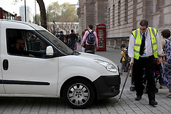 21 April 2011. London, England..A vehicle inspection close to the Prime Minister and other senior Government officials residences near  Downing Street off Whitehall..Photo; Charlie Varley.