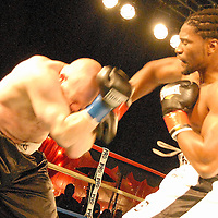 "Highlights from the Sugar Ray Leonard Foundation and B. Riley and Company's ""Big Fighters, Big Cause,"" at the Santa Monica Pier on Tuesday, May 25, 2010. The charity boxing event under the stars benefited the Sugar Ray Leonard Foundation's work for juvenile diabetes and childhood obesity. The ProAm fight card will included several professional and amateur bouts sanctioned by the California State Athletic Commission and USA Boxing."