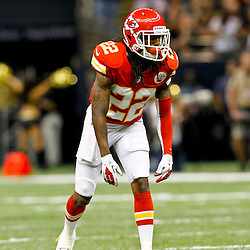 September 23, 2012; New Orleans, LA, USA; Kansas City Chiefs wide receiver Dexter McCluster (22) against the New Orleans Saints during the second quarter of a game at the Mercedes-Benz Superdome. Mandatory Credit: Derick E. Hingle-US PRESSWIRE