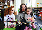24/03/2013. REPRO FREE. Waterford Writers Weekend. Pictured at the Waterford Writers Weekend at a Story Time by author Marie Louise Fitzpatrick. Pictured are Olivia Mulligan and Ava McAvinue from Waterford with author Marie Louise Fitzpatrick. Picture: Patrick Browne
