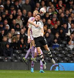 Paul McShane of Reading battles with Richard Stearman of Fulham - Mandatory byline: Robbie Stephenson/JMP - 07966 386802 - 24/10/2015 - FOOTBALL - Craven Cottage - London, England - Fulham v Reading - Sky Bet Championship