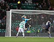 Dundee keeper Scott Bain pulls off a fantastic save to deny Celtic's Charlie Mulgrew - Celtic v Dundee - Ladbrokes Scottish Premiership at Dens Park<br /> <br />  - &copy; David Young - www.davidyoungphoto.co.uk - email: davidyoungphoto@gmail.com