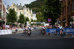 Team Sunweb sweep around a corner with less than 5km to go at UCI Road World Championships Women's Team Time Trial 2017 a 42.5 km team time trial in Bergen, Norway on September 17, 2017. (Photo by Sean Robinson/Velofocus)
