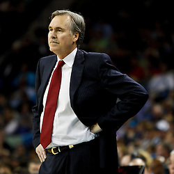 December 3, 2010; New Orleans, LA, USA; New York Knicks head coach Mike D'Antoni during the second half against the New Orleans Hornets at the New Orleans Arena. The Knicks defeated the Hornets 100-92. Mandatory Credit: Derick E. Hingle