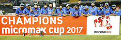 September 3, 2017 - Colombo, Sri Lanka - The Indian cricket team pose for a photograph after winning the ODi series against the host Sri Lanka after the 5th and final One Day International cricket match between Sri Lanka and India at the R Premadasa international cricket stadium at Colombo, Sri Lanka on Sunday 3 September 2017. (Credit Image: © Tharaka Basnayaka/NurPhoto via ZUMA Press)
