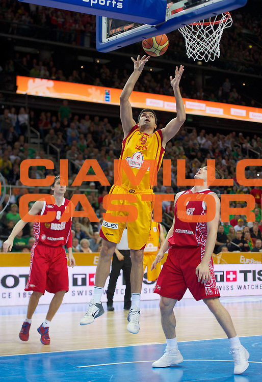 DESCRIZIONE : Kaunas Lithuania Lituania Eurobasket Men 2011 Finale Terzo Quarto Posto Classification Game for 3rd to 4th Place Macedonia Russia F.Y.R of Macedonia Russia<br /> GIOCATORE : Damjan Stojanovski <br /> SQUADRA : Macedonia F.Y.R. of Macedonia<br /> EVENTO : Eurobasket Men 2011<br /> GARA : Macedonia Russia F.Y.R of Macedonia Russia<br /> DATA : 18/09/2011 <br /> CATEGORIA : tiro shot<br /> SPORT : Pallacanestro <br /> AUTORE : Agenzia Ciamillo-Castoria/T.Wiedensohler<br /> Galleria : Eurobasket Men 2011 <br /> Fotonotizia : Kaunas Lithuania Lituania Eurobasket Men 2011 Finale Terzo Quarto Posto Classification Game for 3rd to 4th Place Macedonia Russia F.Y.R of Macedonia Russia<br /> Predefinita :