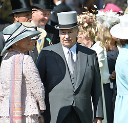 HH The Aga Khan at The Investec Derby, Epsom Racecourse, Epsom, Surrey, England. 02 June 2018.