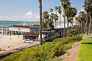 Train Passes Through San Clemente, Orange County, California