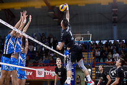 Primoz Vidmar of Calcit Volley during 3rd Leg volleyball match between OK Calcit Volley and Salonit Anhovo in Semifinal of 1. DOL Slovenian National Championship 2017/18, on April 15, 2018 in Sports hall Kamnik, Kamnik, Slovenia. Photo by Urban Urbanc / Sportida