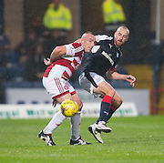 Hamilton&rsquo;s Darian MacKinnon and Dundee&rsquo;s James Vincent - Dundee v Hamilton Academical in the Ladbrokes Scottish Premiership at Dens Park<br /> <br />  - &copy; David Young - www.davidyoungphoto.co.uk - email: davidyoungphoto@gmail.com