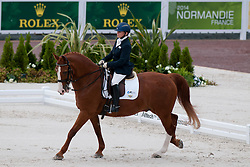 Lee Frawley riding Rhapsody in the Grade IV Individual Tests at the 2014 World Equestrian Games, Caen, Normandy, France