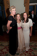 THE COUNTESS OF MARCH;  LADY ELOISE GORDON-LENNOX;; MIA SELMAN; , The Goodwood Ball. In aid of Gt. Ormond St. hospital. Goodwood House. 27 July 2011. <br /> <br />  , -DO NOT ARCHIVE-© Copyright Photograph by Dafydd Jones. 248 Clapham Rd. London SW9 0PZ. Tel 0207 820 0771. www.dafjones.com.