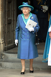 © Licensed to London News Pictures. 10/07/2018. London, UK. HRH Queen Elizabeth II attends a service at Westminster Abbey to make the100th anniversary of the Royal Air Force at Westminster Abbey. The RAF, the world's first independent air force was founded on 1 April 1918, independent of the British Army and Royal Navy. Photo credit: Ray Tang/LNP