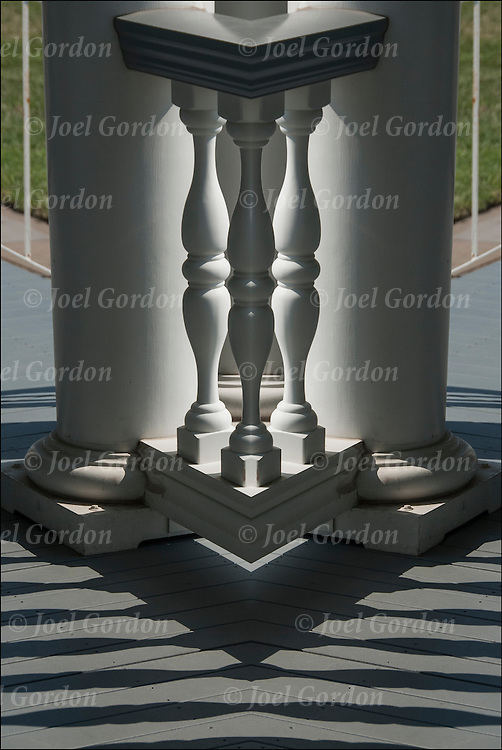Balusters Mirror Horizontal Perspective<br /> <br /> Two or more layers were used to enhance, alter, manipulate the image, creating an abstract surrealistic mirrored symmetry.
