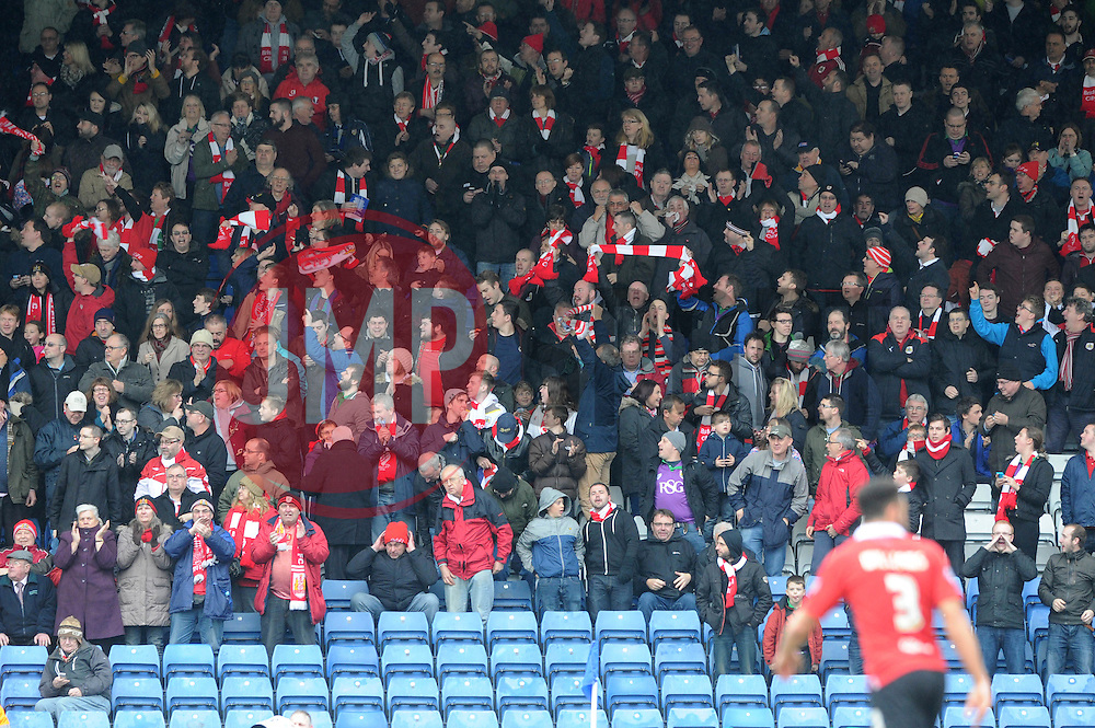 Bristol City crowd - Photo mandatory by-line: Dougie Allward/JMP - Mobile: 07966 386802 - 03/04/2015 - SPORT - Football - Oldham - Boundary Park - Bristol City v Oldham Athletic - Sky Bet League One