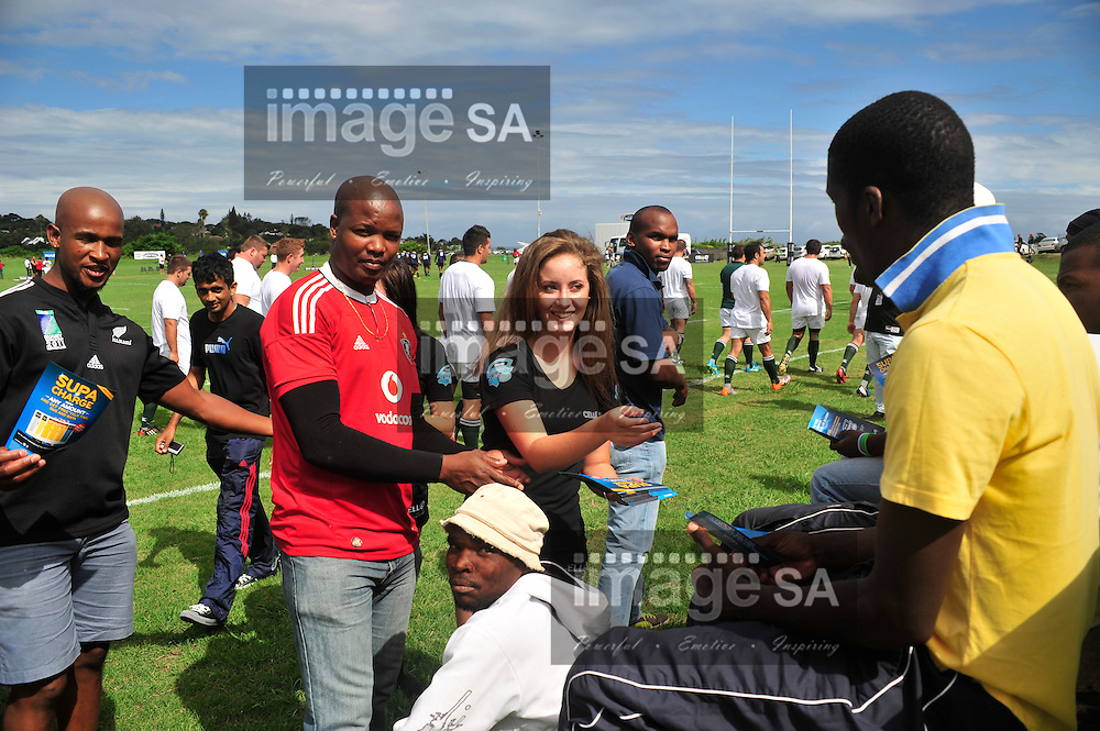 EAST LONDON, SOUTH AFRICA - FEBRUARY 16 2013,  during match 7 of the Cell C Community Cup rugby match between Broubart Old Selbornian and Brakpan held at the Old Selbornian Rugby Club, East London..Photo by ImageSA