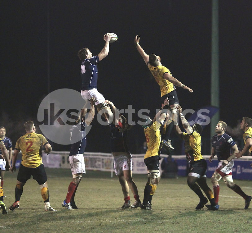 Neil Best in action during the Green King IPA Championship match between London Scottish &amp; Cornish Pirates at Richmond, Greater London on 16th January 2015<br /> <br /> Photo: Ken Sparks | UK Sports Pics Ltd<br /> London Scottish v Cornish Pirates, Green King IPA Championship, 16h January 2015<br /> <br /> &copy; UK Sports Pics Ltd. FA Accredited. Football League Licence No:  FL14/15/P5700.Football Conference Licence No: PCONF 051/14 Tel +44(0)7968 045353. email ken@uksportspics.co.uk, 7 Leslie Park Road, East Croydon, Surrey CR0 6TN. Credit UK Sports Pics Ltd