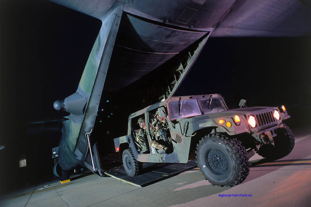© Hummer exiting from MC-130 Combat Talon Herk