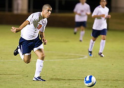 Virginia Cavaliers forward Nino DiMaggio (19) reacts to a fast break against ODU.  The Virginia Cavaliers defeated the Old Dominion Monarchs 3-0 in a pre-season NCAA Men's Soccer exhibition game held at Klockner Stadium on the Grounds of the University of Virginia in Charlottesville, VA on August 23, 2008.