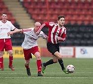 Argyle's Steven Tront strides away from a Dykehead opponent - Dundee Argyle v Dykehead AFC in the Scottish Sunday Trophy semi final at Excelsior Stadium, Airdrie, Photo: David Young<br /> <br />  - &copy; David Young - www.davidyoungphoto.co.uk - email: davidyoungphoto@gmail.com