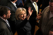 Democratic presidential candidate, Hillary Rodham Clinton waves during a meet and greet after speaking at a town hall meeting at the Rochester Opera House in Rochester, N.H. Friday, Jan. 22, 2016.  CREDIT: Cheryl Senter for The New York Times