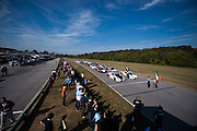 October 3-5, 2013. Lamborghini Super Trofeo - Virginia International Raceway. Grid before the start of race 2.