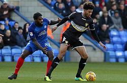 Anthony Grant of Peterborough United closes down Josh Laurent of Bury - Mandatory by-line: Joe Dent/JMP - 23/12/2017 - FOOTBALL - ABAX Stadium - Peterborough, England - Peterborough United v Bury - Sky Bet League One