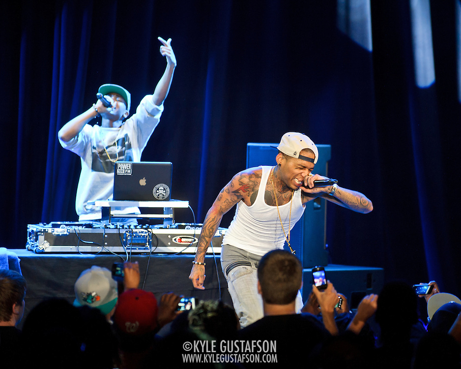 "WASHINGTON, DC -  May 6th, 2012 -  Los Angeles rapper Kid Ink performs at the recently re-opened Howard Theatre in Washington, D.C. Kid Ink was recently featured as one of XXL Magazine's ""Freshmen Class"" for 2012. (Photo by Kyle Gustafson/For The Washington Post)"