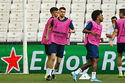 Chelsea midfielder Jorginho (5) during the Chelsea Training session ahead of the 2019 UEFA Super Cup Final between Liverpool FC and Chelsea FC at BJK Vodafone Park, Istanbul, Turkey on 13 August 2019.
