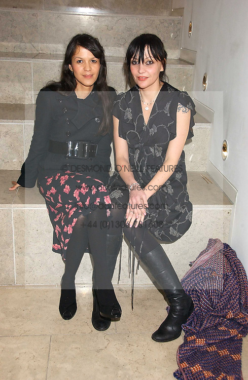 Left to right, LISA MOORISH and PEARL LOWE at a party hosted by O2 to announce their support for grassroots music through the launch of a nationwide music talent search 'O2 Undiscovered' held at The Hospital, Endell Street, London on 8th March 2006.<br /><br />NON EXCLUSIVE - WORLD RIGHTS