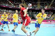 DESCRIZIONE : Handball Jeux Olympiques Londres Quart de Finale<br /> GIOCATORE : Thomas Mogensen<br /> SQUADRA : Danemark Homme<br /> EVENTO : Handball Jeux Olympiques<br /> GARA : Danemark Suede<br /> DATA : 08 08 2012<br /> CATEGORIA : handball Jeux Olympiques<br /> SPORT : HANDBALL<br /> AUTORE : JF Molliere <br /> Galleria : France JEUX OLYMPIQUES 2012 Action<br /> Fotonotizia : Handball Homme Jeux Olympiques Londres Quart de Finale Basketball Arena<br /> Predefinita :