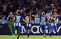 Fotball<br /> Tyskland<br /> Foto: Witters/Digitalsport<br /> NORWAY ONLY<br /> <br /> 1:0 Jubel v.l. Genki Haraguchi, Fabian Lustenberger, Vedad Ibisevic, Torschuetze Mitchell Weiser, Peter Pekarik (Berlin)<br /> Berlin, 18.09.2016, Fussball Bundesliga, Hertha BSC - FC Schalke 04