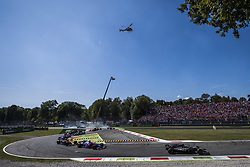 September 3, 2017 - Monza, Italy - Motorsports: FIA Formula One World Championship 2017, Grand Prix of Italy, ..#20 Kevin Magnussen (DNK, Haas F1 Team), #26 Daniil Kvyat (RUS, Scuderia Toro Rosso), #27 Nico Hulkenberg (GER, Renault Sport F1 Team) (Credit Image: © Hoch Zwei via ZUMA Wire)