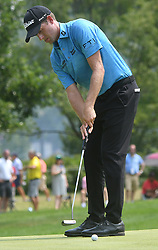 August 12, 2018 - St. Louis, Missouri, U.S. - ST. LOUIS, MO - AUGUST 12: Webb Simpson putts on the #1 green during the final round of the PGA Championship on August 12, 2018, at Bellerive Country Club, St. Louis, MO.  (Photo by Keith Gillett/Icon Sportswire) (Credit Image: © Keith Gillett/Icon SMI via ZUMA Press)