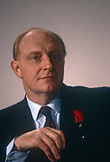 Leader of the Labour party, Neil Kinnock listens to speeches during a Labour Citizens' Charter event in June 1991, in London, England. Neil Gordon Kinnock, Baron Kinnock PC (b1942) is a British Labour Party politician. He served as a Member of Parliament from 1970 until 1995, first for Bedwellty and then for Islwyn. He was the Leader of the Labour Party and Leader of the Opposition from 1983 until 1992, making him the longest-serving Leader of the Opposition in British political history.