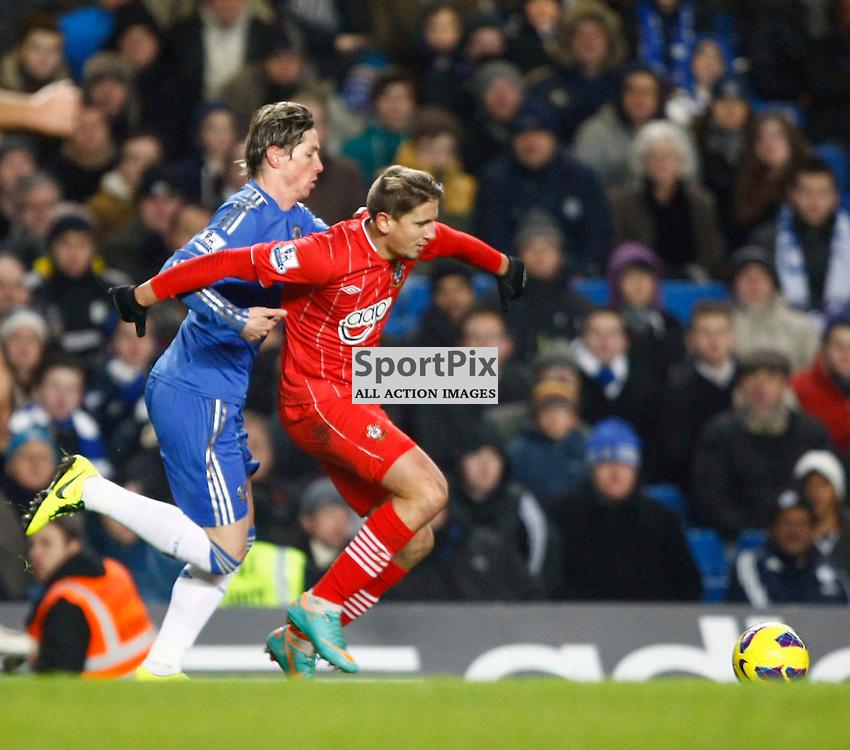 A frustrated Torres grabs Cork. Chelsea v Southampton (c) MATT BRISTOW | StockPix.eu.