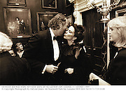 Ed Victor and Koo Stark. Ed Victor party at the Garrick Club. London. 31 October 1989<br /> © Copyright Photograph by Dafydd Jones<br /> 66 Stockwell Park Rd. London SW9 0DA<br /> Tel 0171 733 0108
