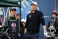 Golf - 2018 Sky Sports British Masters - Sunday, Fourth Round<br /> <br /> Marcel Siem of Germany with his caddie, at Walton Heath Golf Club.<br /> <br /> COLORSPORT/ANDREW COWIE