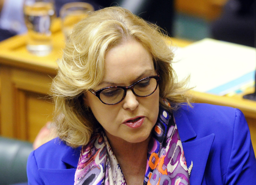 National MP Judith Collins, in the debating chamber at question time, Parliament, Wellington, New Zealand, Tuesday, May 06, 2014. Credit:SNPA / Ross Setford