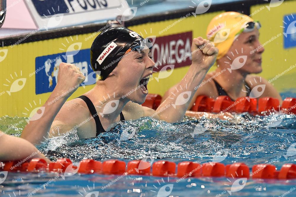 HEEMSKERK Femke NED Gold Medal Women's 100m Freestyle <br /> Doha Qatar 05-12-2014 Hamad Aquatic Centre, 12th FINA World Swimming Championships (25m). Nuoto Campionati mondiali di nuoto in vasca corta.<br /> Photo Andrea Staccioli/Deepbluemedia/Insidefoto
